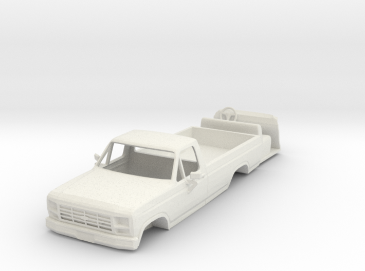 1/64 scale 1984 Ford pickup with interior 3d printed