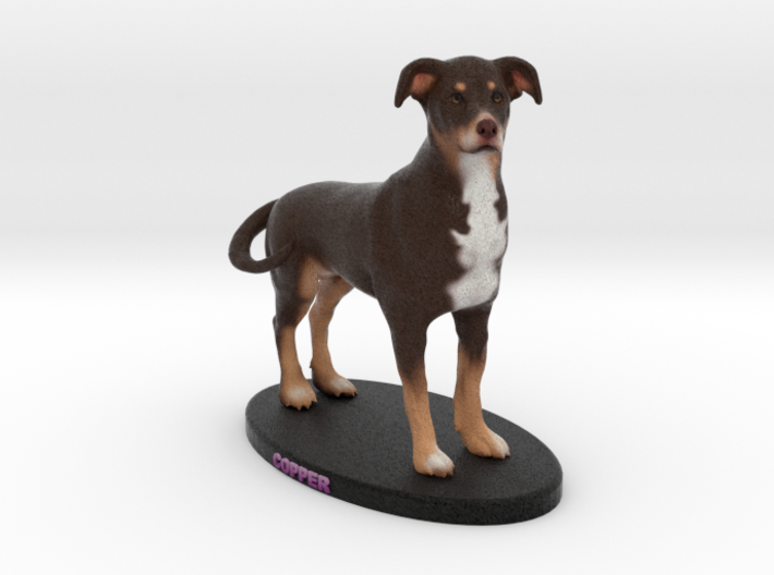 Custom Dog Figurine - Copper 3d printed