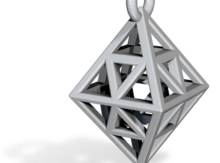 Diamond (Octahedron) Wire Pendant VI-08-0003-1001 3d printed