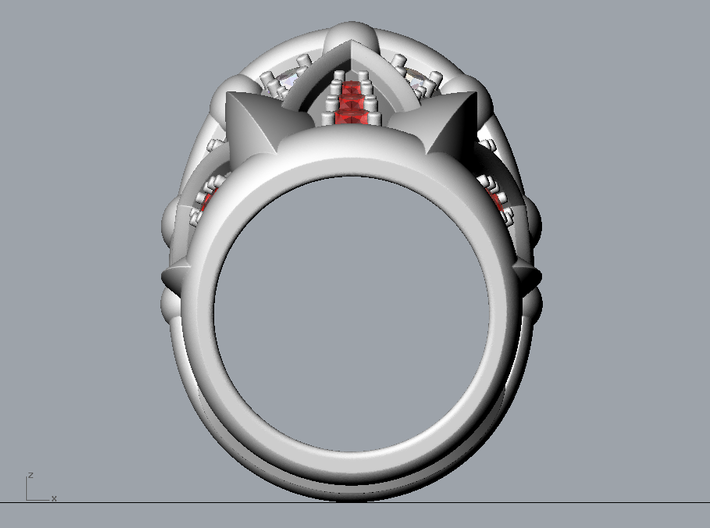 Neptune Ring - Size 12 (21.49 mm) 3d printed
