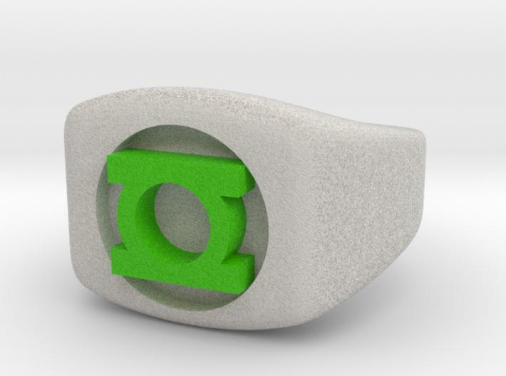 Green Lantern Ring Size 4.5 (kids size) 3d printed