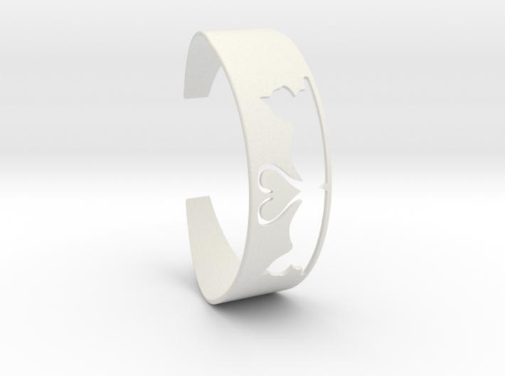 Bracelet Cats Heart 3d printed