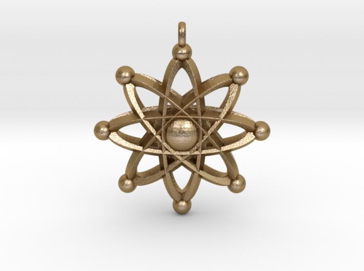UNIVERSAL ATOM Designer Jewelry Pendant 3d printed