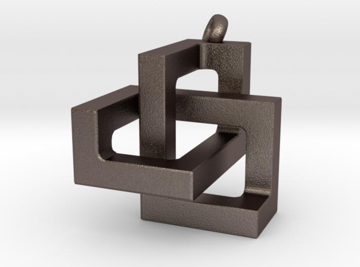 Square Knot Pendant 3d printed