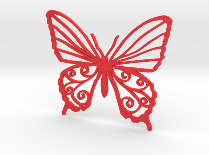 Butterfly wall stencil 7cm 3d printed