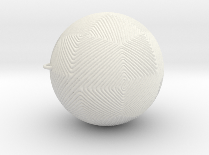 Christmas Tree Ornament #12 Smaller 3d printed
