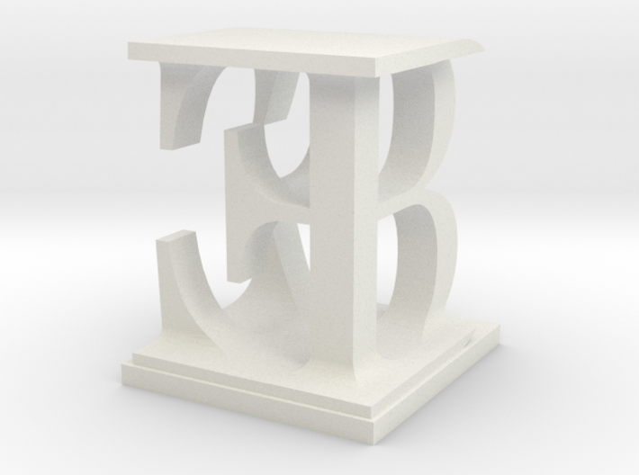 Two way letter / initial B&E 3d printed