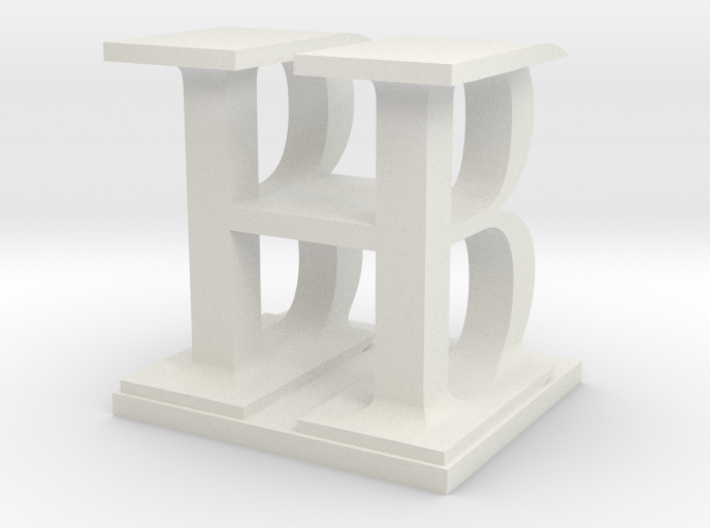 Two way letter / initial B&H 3d printed