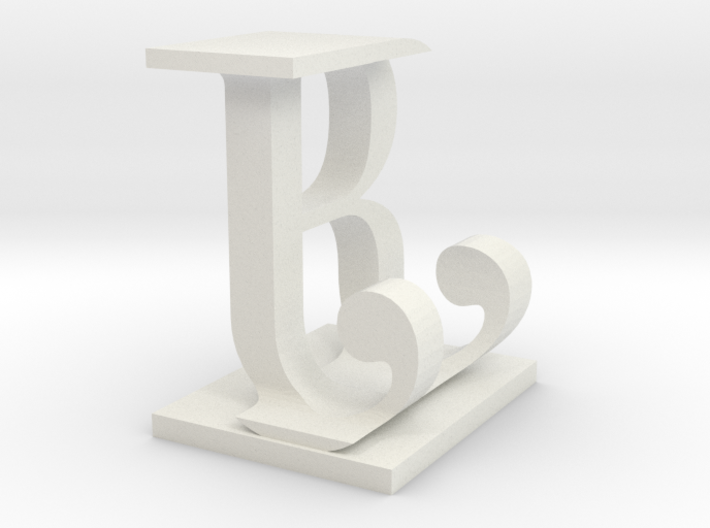 Two way letter / initial B&J 3d printed
