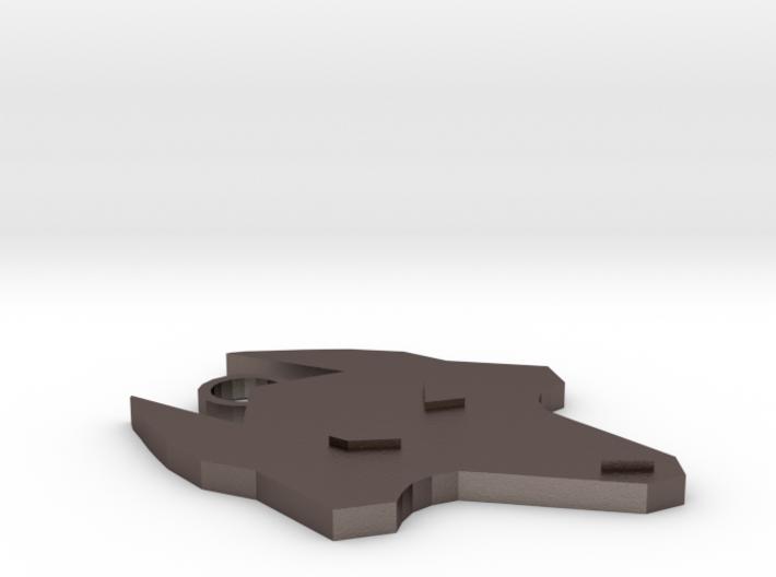 Wolf Keychain 3d printed