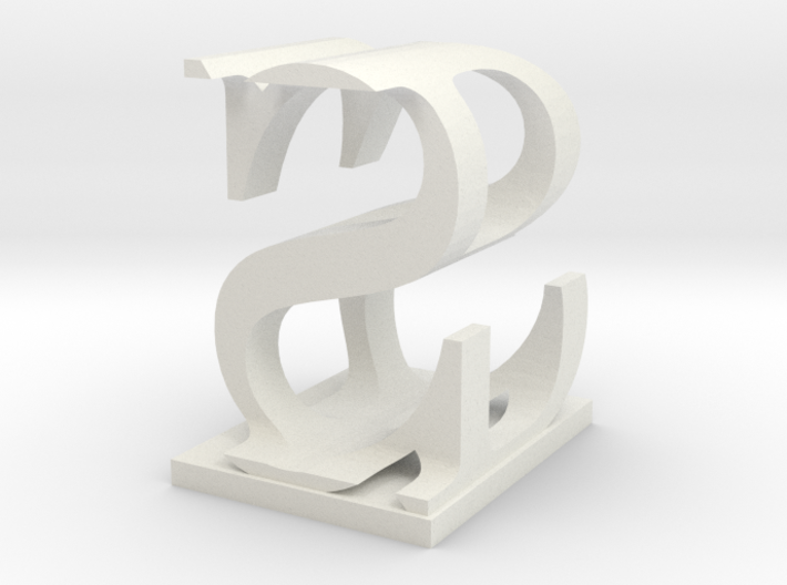 Two way letter / initial B&S 3d printed
