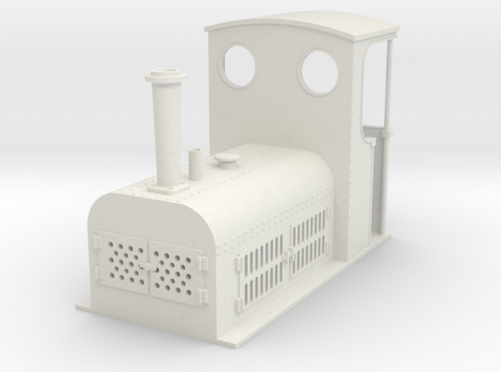 Gn15 small Bagnall petrol loco 3d printed