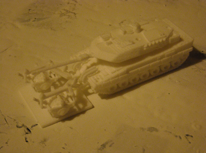 MG144-G03C Leopard2A6 Mine rollers (4) 3d printed Leopard 2A6 with mine roller attached.