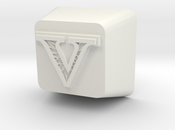V Cherry MX Keycap 3d printed