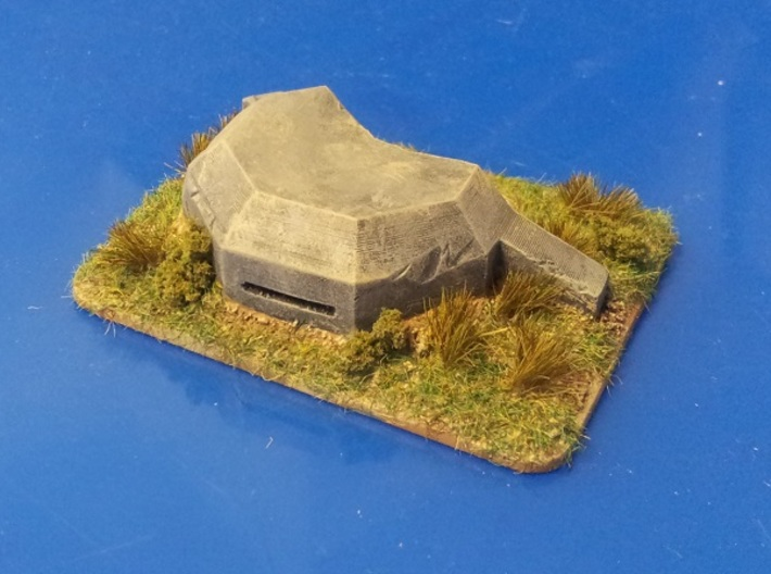 MG pillbox 2 3d printed painted and based