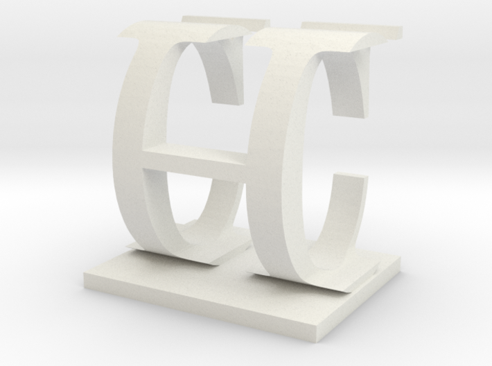 Two way letter / initial C&H 3d printed