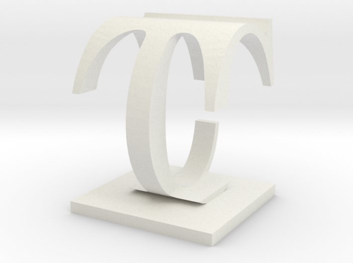 Two way letter / initial C&T 3d printed
