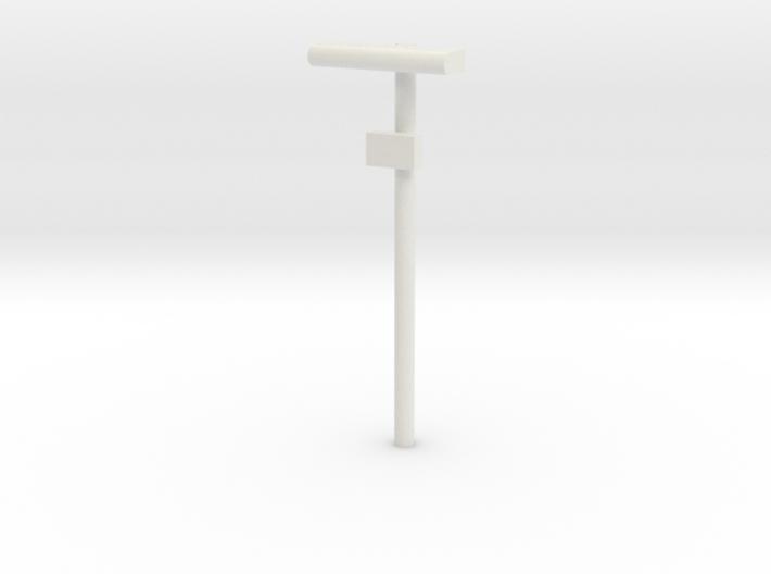1/160 - DSB Stations lampe med lille undertavle (V 3d printed