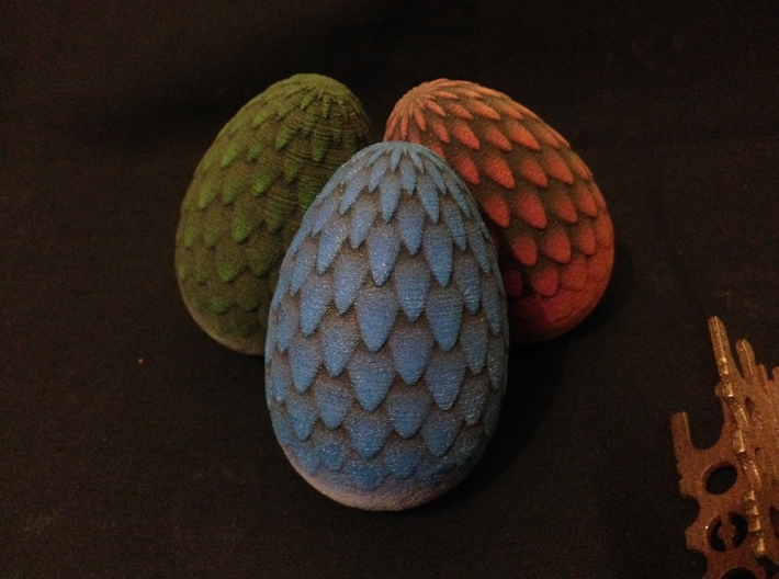 6cm Green Dragon Egg (solid) 3d printed