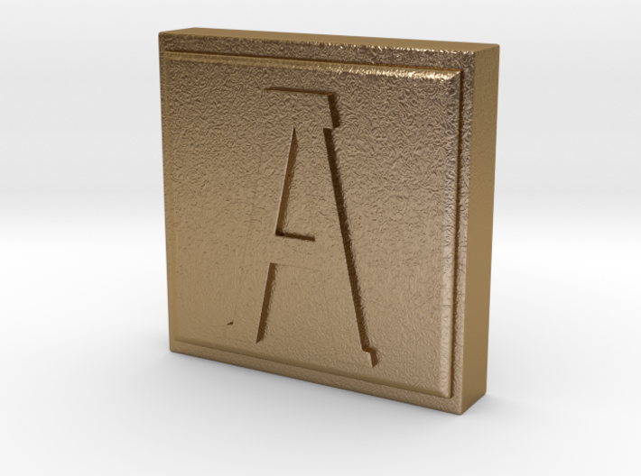 "Use an ""A"" Stamp 3d printed"