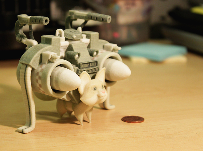 Mathieu Beaulieu's Killer Kitty-Large 3d printed Pennies everywhere. (Small size shown)