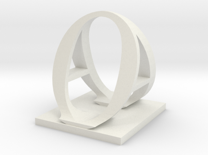Two way letter / initial A&O 3d printed
