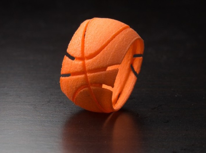 Basketball Ring 19 mm 3d printed Photo of size 4 (14.8 mm) ring