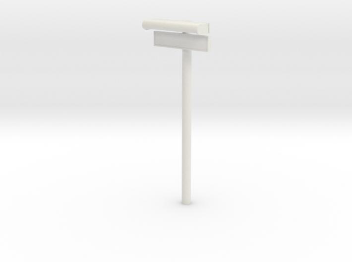 1/32 - DSB Stations lampe med stations skilt (VIA) 3d printed