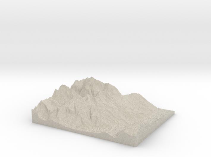 Model of Haldensteiner Calanda 3d printed
