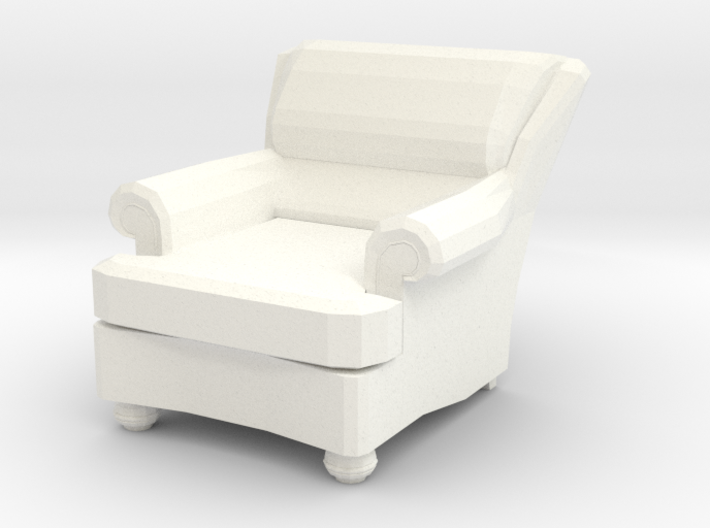 Miniature 1:48 Recliner Chair 3d printed
