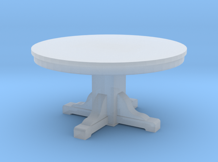 Miniature 1:48 Kitchen Table (4' Round) 3d printed