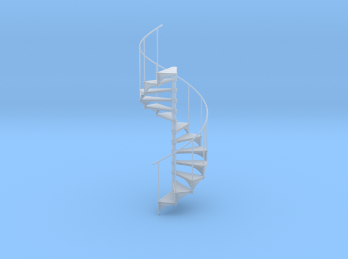 Miniature 1/1:24 Spiral Stair (Right Hand) 3d printed