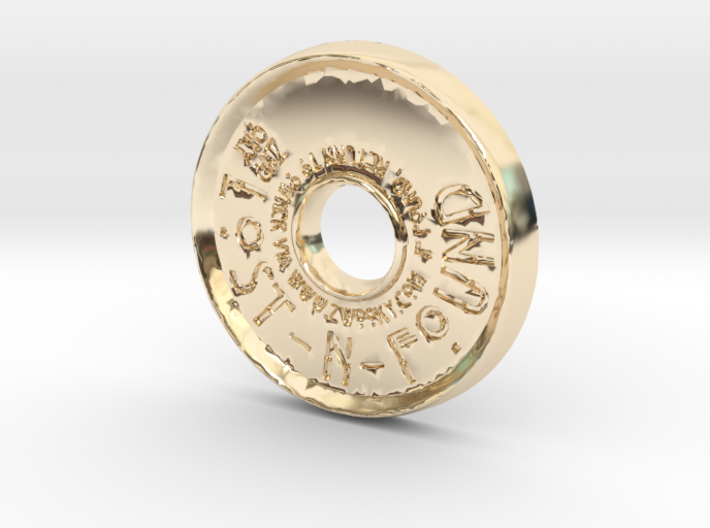ZWOOKY Style 44 Sample - pendant donut 3d printed