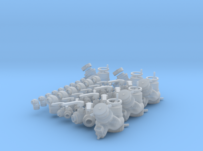 """Fire fitting set """"C"""" Large (1/24 scale) 3d printed"""
