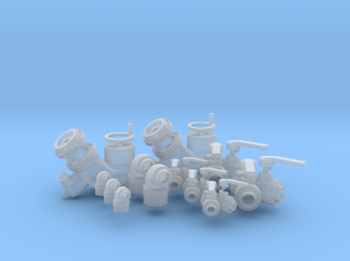 """1/24 fire fitting set """"a - small"""" 3d printed"""