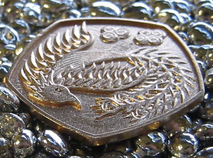 Detailed Dragon Coin 3d printed Phoenix side