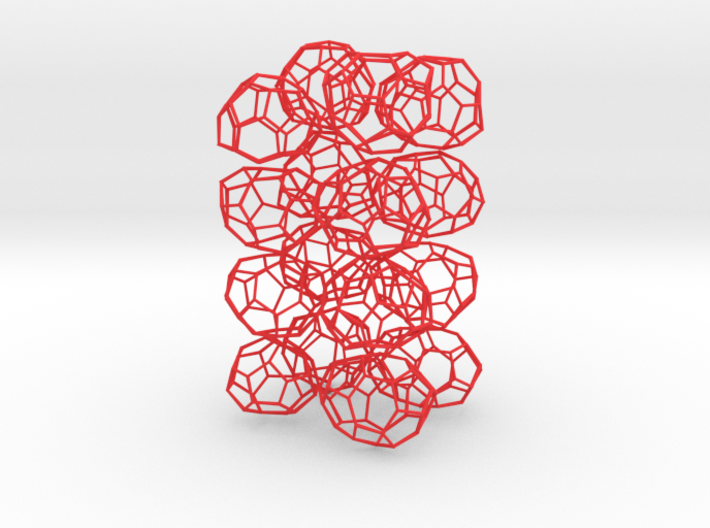 16 small chiral fullerenes (red) 3d printed