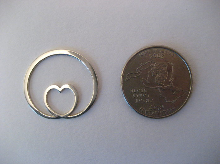 Encircling Love Pendant 3d printed About the size of a quarter