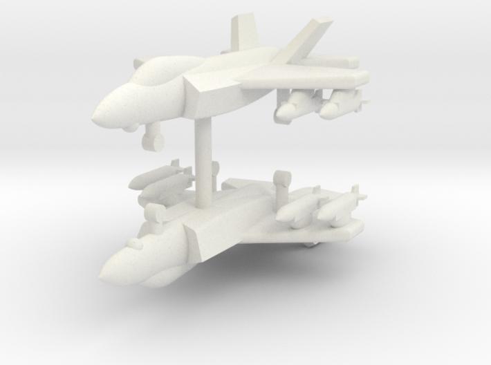 1/285 F-35A Lightning II (With x4 JDAM) (x2) 3d printed