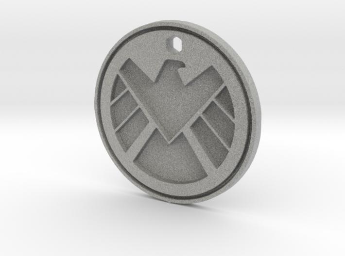 Shield Logo Necklace Replica 3d printed