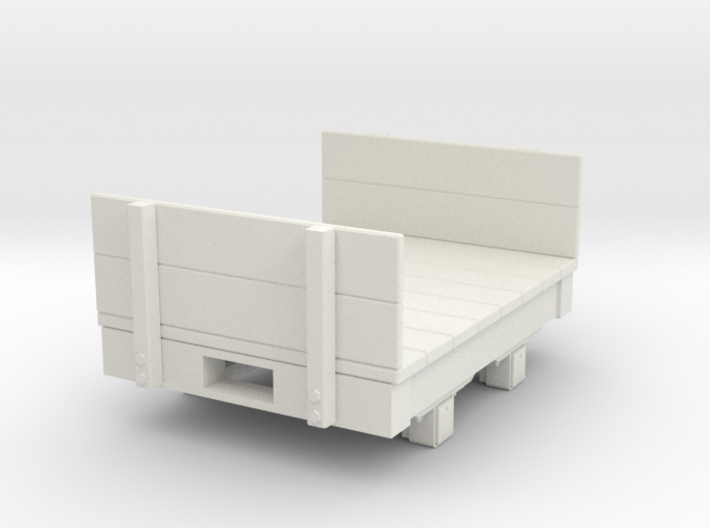 Gn15 small 4ft Flat wagon with ends 3d printed