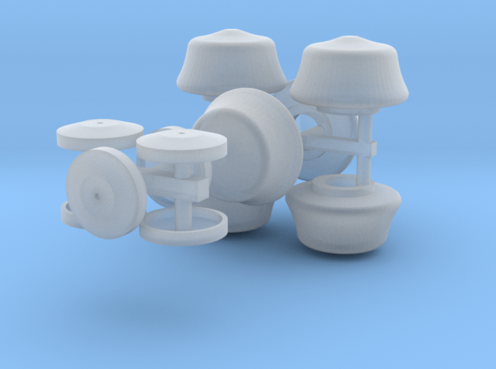 O Scale 6ea Globes and Caps 3d printed