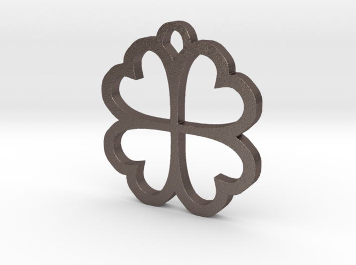 4 Leaf Clover Hearts Lucky St. Patricks Day Earing 3d printed