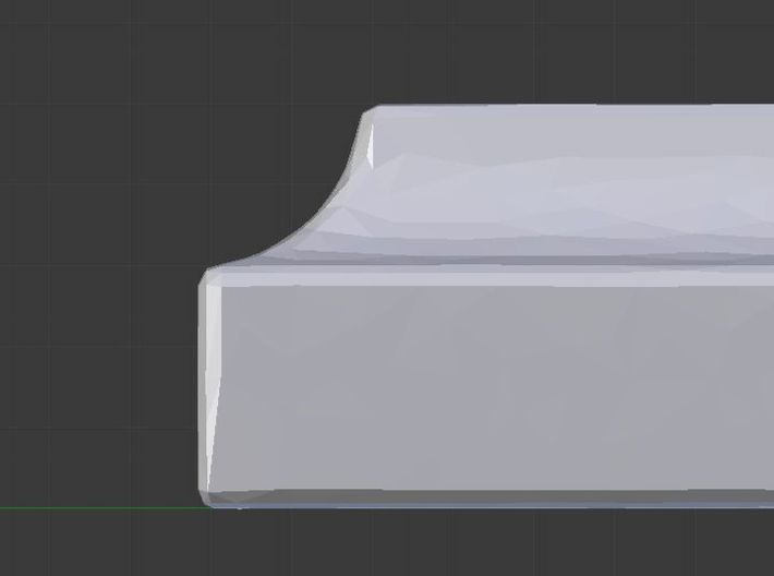 I alone cannot change the world 3d printed Edge profile