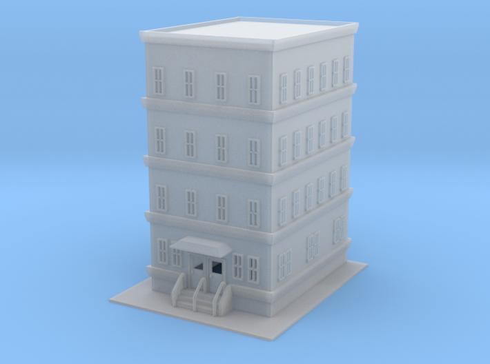 City Apartment Building 1  Z Scale 3d printed City Apartment Z scale