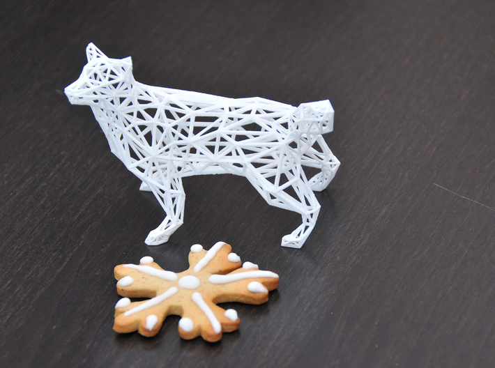 Low Poly Wireframe Husky [8cm Tall] 3d printed