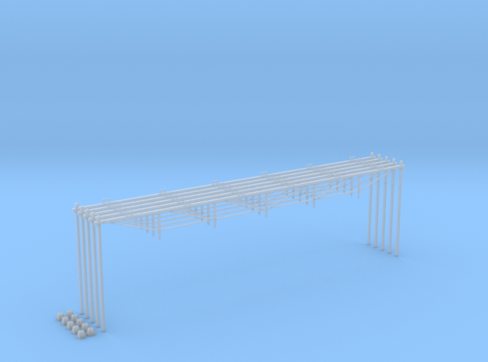 Catenary (5 set) Dutch style 6 track (1:160) 3d printed
