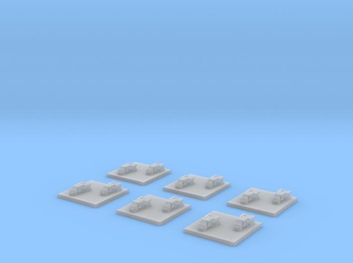 "Turanic Raider ""Thief"" Corvettes (6) 3d printed"