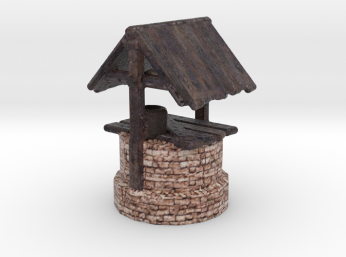 Miniature Ancient water well 3d printed