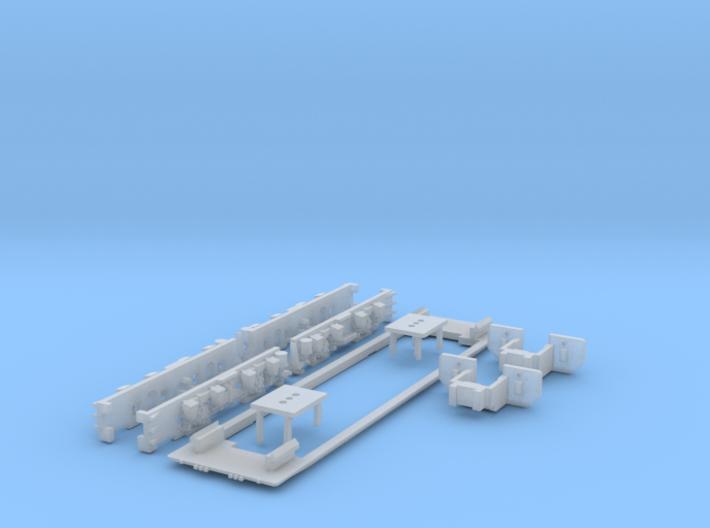 """LEW EL2 """"N"""" scale (Bottom part 2-2) 3d printed"""